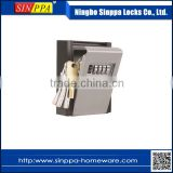HL-004 4-Digit Push- Button Combination Weather Resistant Outdoor Wall Mount Key Lock Box