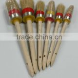 round head wooden long handle car wheel brush