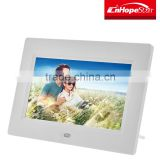 Factory price 7 inch background browse digital photo frame for retail store
