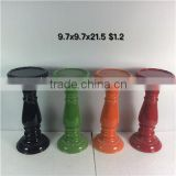 Customization Attractive tall Ceramic candlestick Shade Candle Holders