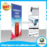 Manufacturer direct supply Retractable waterproof banner stand out door display aluminium roll up stand for Trade show backdrop