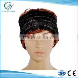 Black SPA non-woven headbands with four elastic