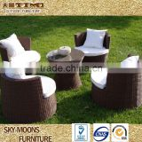 luxury outdoor furniture brown garden wicker table chairs(TC056)