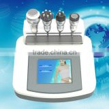 FDA approval hot sale Lowest price mini multifunctional 4 treatment heads used in spa electro stimulation slimming machine
