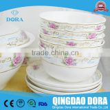 Chinese Porcelain Silver Rim Tea Set For 4 People bone china