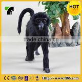 unstuffed animal furry talking and walking and talking magnet plush toy monkey with banana