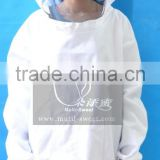 Ventilated Honey Tool White Color Cotton Beekeeper Protective Suits Jacket with Helmet/High Quality Bee Keeping Suit