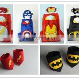Holloween superhero costume super hero cape and wristband dress up for kids