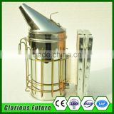 Stainless Beekeeping Smoker 10 Pcs Bee Smoker Per Carton Wholesaler Beekeeping European Style Dermis Bee Smoker