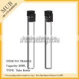 Whoelsale 20ml empty clear glass test tube bottle vial for perfume with plastic stopper