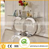 F286 Cheap Hallway Console Table Modern Glass Console Table
