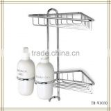 Twin Shower Corner with Dispensers shower caddy