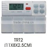 Plastic digital LCD table timer with pill box