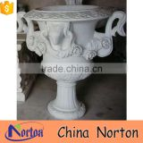 pure white marble luxury heart shaped flower pot NTMF- FP209X