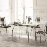 modern extension dining table and chairs which chrome frame