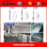 JINXIN inox rod railing stair balustrade with solid wood handrail / stair handrail / stair balustrade