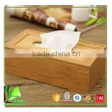 Superior quality cheap bamboo tissue paper box holder