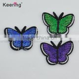 Colorful butterfly custom embroidery textile patch WEF-032