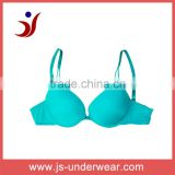 js-113 Popular Comfortable lady lingerie molded bra glossy bra naked bra no decorate fantasy for sexy ladies (accept OEM)