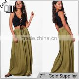 Drapey hippie boho style casual women's maxi skirt with pockets