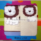 embroidery baby bedding set/3pcs baby bedding set crib bedding set/100% cotton bedding set