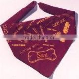 High Quality Popular Custom Printed Triangle Dog Bandanas