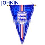 Wholesale custom logo double layer football club pennant exchange hanging flag