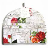 Cotton Tea Cosy Heat Preservation Tea Pot Cover With Rose Pattern