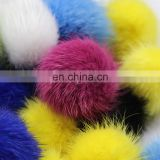 "4cm mink fur pompoms long spiky hairs for necklace ear rings small nylon loops 1.6"" tiny fur balls"