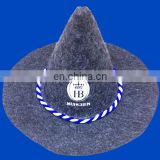 mc2871 new bavarian felt hat with HB logo and blue white cord