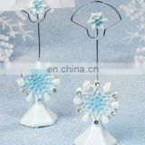 Blue Snowflake Place Card Holder