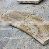yellow sandstone swimming pool coping