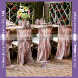 C407A new style chiffon chair covers tie back blush chair sashes