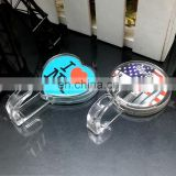 self adhesive clear plastic acrylic wall hook with custom printed