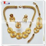 latest african gold plating jewerlry set for wedding