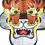 Tiger Fabric Applique Sticker Jacket Iron on Embroidery Patch