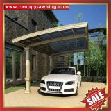 outdoor villa alu aluminium aluminum alloy metal PC polycarbonate double parking carports car port shelter canopy awning cover suppliers