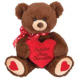 Cute teddy bear with love heart stuffed plush valentine toy with heart