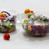 Transparent disposable deli container .plastic round container. .factory direct salad container