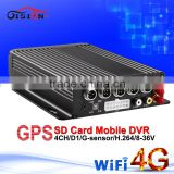 4g video surveillance net wifi gps car mdvr sd vehicle dvr support car speed radar detector