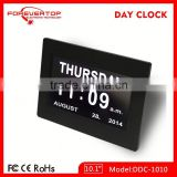 Hot sell High definition digital big screen battery operated calendar clock for elder