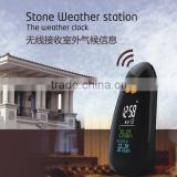LCD Digital Clock Weather Station with Indoor and Outdoor Temperature, Humidity Function