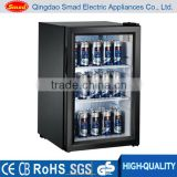Mini display refrigerator beverage cooler for supermarket, convenience store