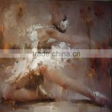 High quality and factory price handmade abstract sexy ballerina girl oil painting