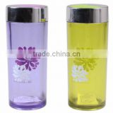 CCHC-008 2014 New Promotion Plastic Travel Mug with 500ml with flower surface