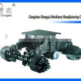 Single Point Suspension Bogie 28T Tandem Trailer Axle