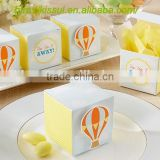 """Up, Up and Away!"" Hot Air Balloon Favor Box For baby Party decorations"