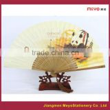 2015 Unique Promotional Gift Polish Carving Bamboo Fabric or Paper Folding Hand Fan