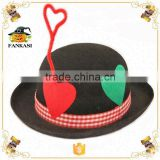 Lovely kids felt party bowler hat for Carnival party