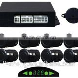 8 way digital front and rear parking sensor kit